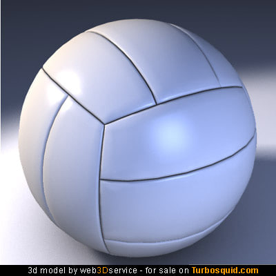 3d volley ball model