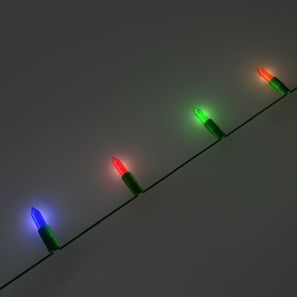 3d model christmas lights