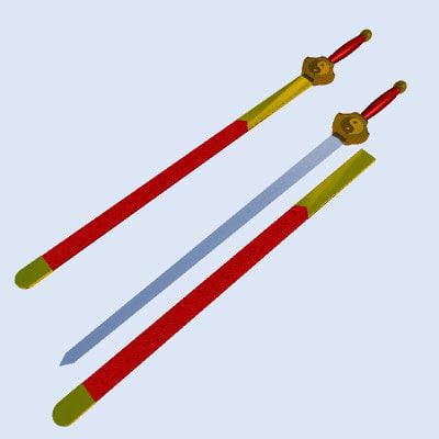 3d jian chinese sword model