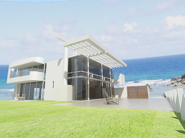 Beach House Richard Meier 3d Model