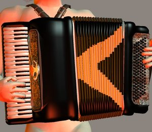 3d model accordion weird al