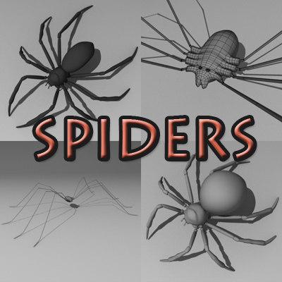 3d spiders arachnid
