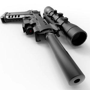 3d model para-ordnance doberman gun