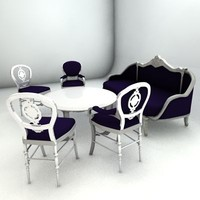 3d seatting romantic group chair