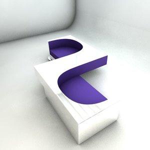 sofa designed 3d 3ds
