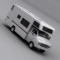 3d model camper camp