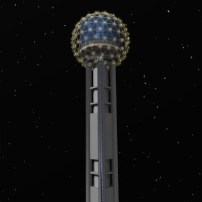3d model of reunion tower