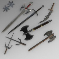 3d swords weapons