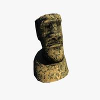 statue paque 3d model