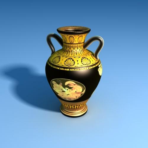 ancient greek vase 3d model