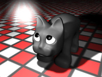 cute kitty cat 3d model