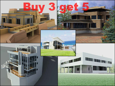 3d houses villa savoye