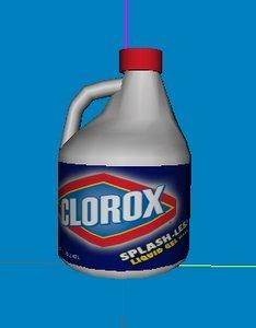 3d bleach bottle