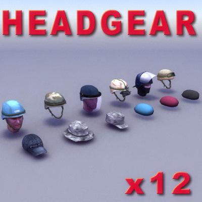 3d model military helmet goggles