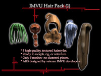 IMVU Hair Pack 1