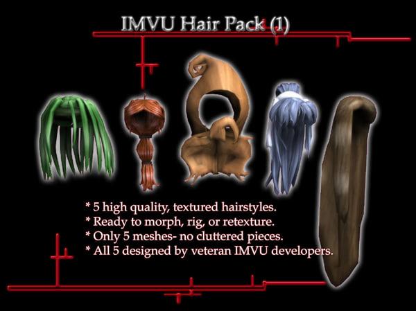 3ds max hair imvu