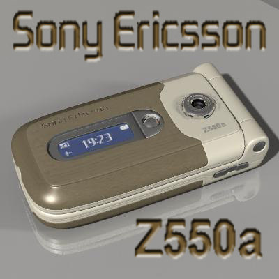 3d sonyericsson z550a model