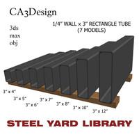 3d 1 wall tube steel model