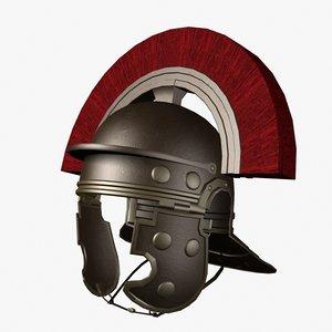 3d model roman centurion helmet