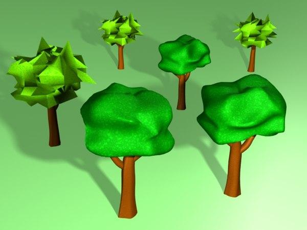 lwo basic tree cartoon