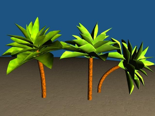 simple palmtree 3d lwo