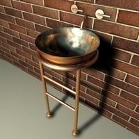 basin sink kitchen c4d