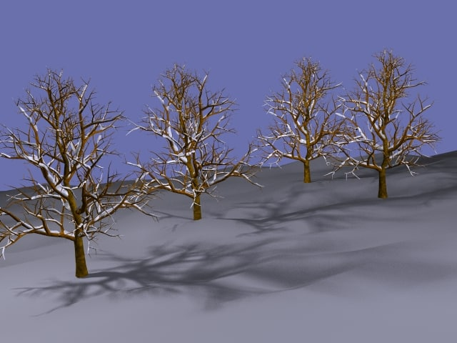 winter trees lwo free