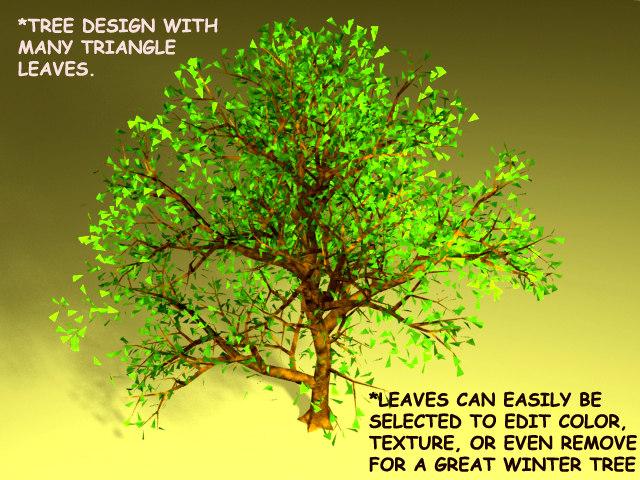 3d tree lightwave leaves
