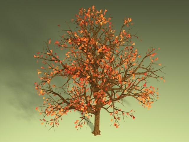 lightwave tree leaves