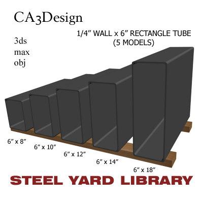 1 wall tube steel 3d model