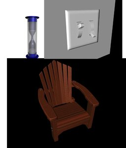 free adirondack chair hourglass lightswitch 3d model