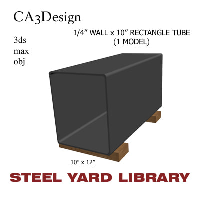 1 wall tube steel 3ds
