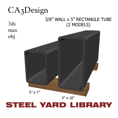 3ds max 3 wall rectangle tube