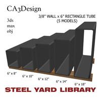 3 wall tube steel 3d model