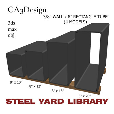 3ds max 3 wall tube steel