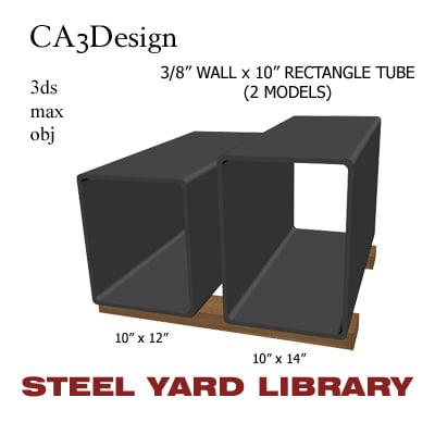 3d 3 wall tube steel model