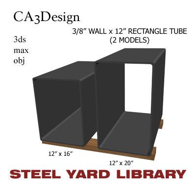 3 wall tube steel 3d max