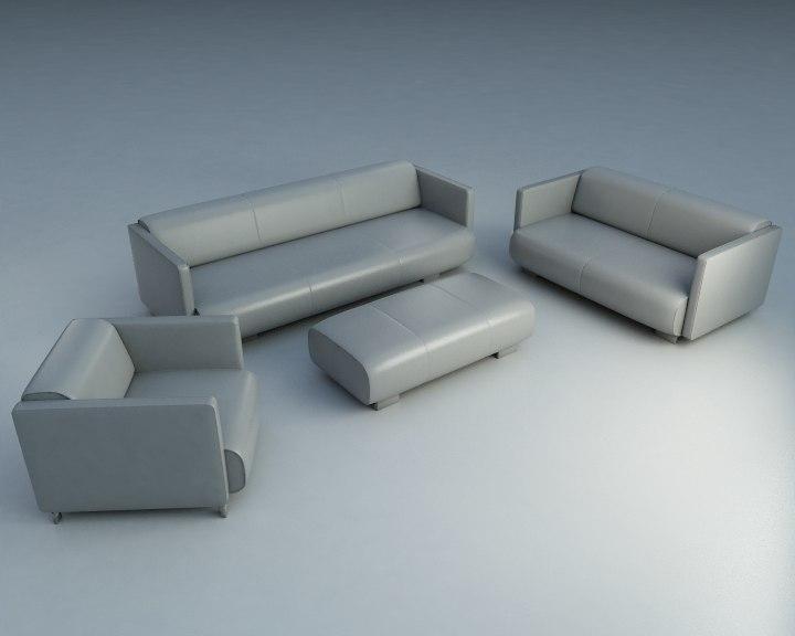 maya 4 piece sofa footstool
