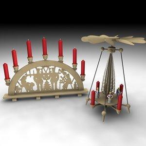 3d model christmas pyramid schwibbogen