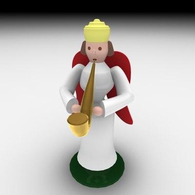 3d christmas angel music model