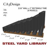 3d model 3 wall tube steel