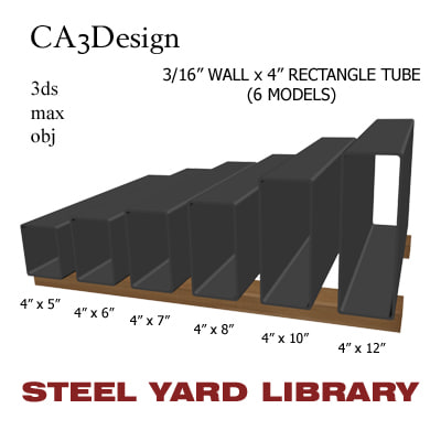 3 wall tube steel 3d 3ds