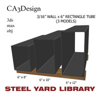 3d model 3 wall tube steel