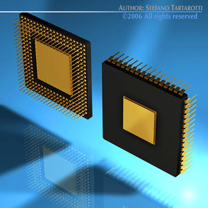 3d model of computer chip