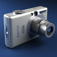 canon ixus 60 digital camera 3d 3ds