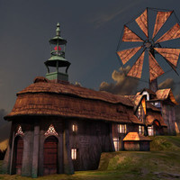 3d fantasy windmill model