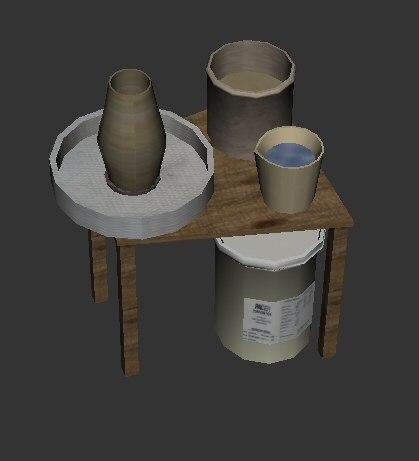 obj potter wheel