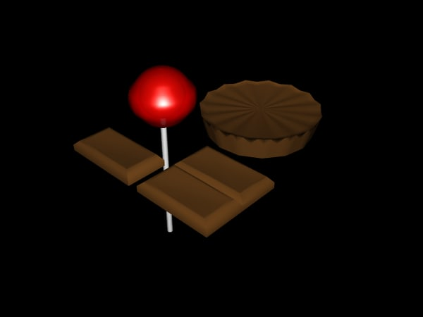 set candy lollipop chocolate 3ds
