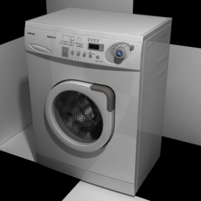 washing-machine bathroom 3d max
