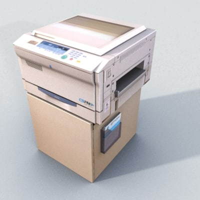 photocopier copier minolta 3d model